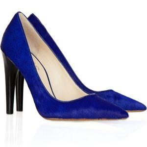 Michael Kors Blue Elgin Calf-hair pumps